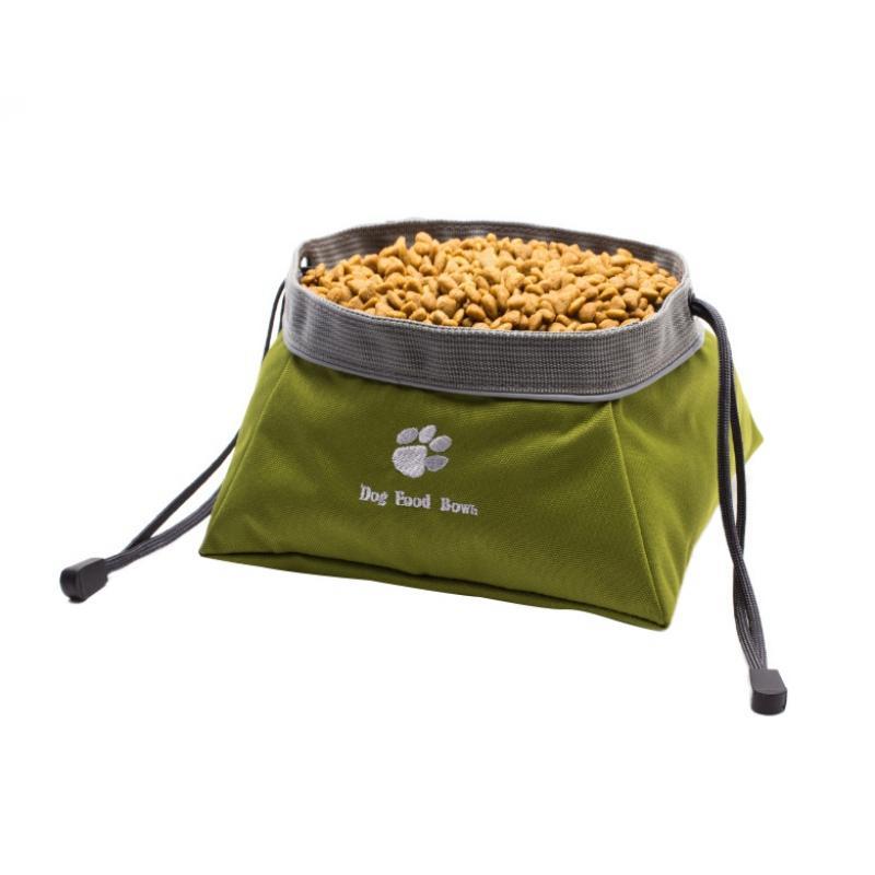 Pet Besleyici Gıda Su Çanta Taşınabilir Açık Seyahat için Yiyecekler İçin Açık Köpek Kamp Taşınabilir Bowl Su geçirmez Katlanabilir Besleme