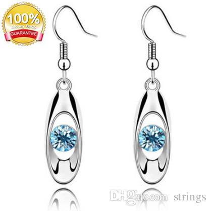 Moda Brinco de Cristal Gota Oval Dangle Brincos de cristal Austríaco jóias brotando acc016