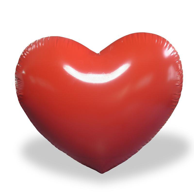 AC765 Benao 3 m / 10 piedi rosso cuore gonfiabile gigante del fumetto per la cerimonia nuziale / decorazione festa di compleanno, amore gonfiabile palloncini ad elio