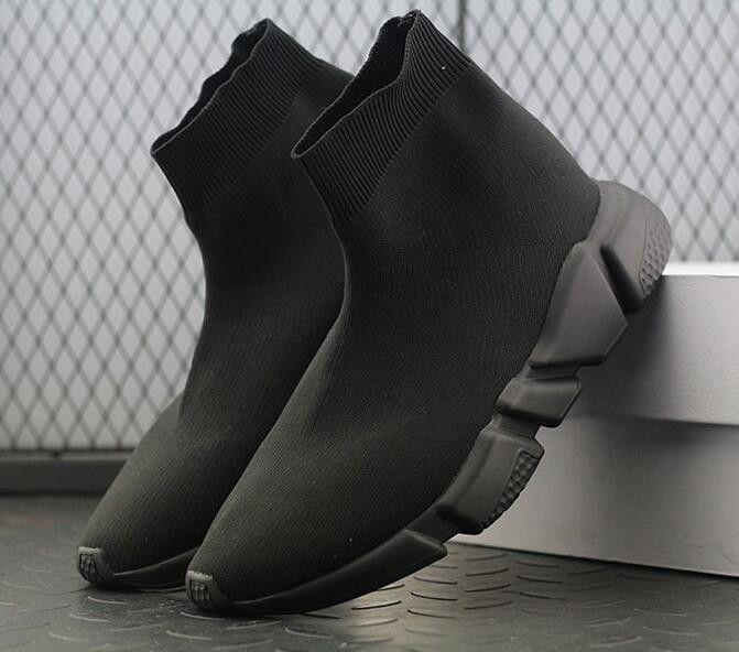 Хорошее качество красный черный скорость тренер Повседневная обувь мужчина женщина носок сапоги стрейч вязать случайные сапоги гонки Бегун дешевые кроссовки высокий топ