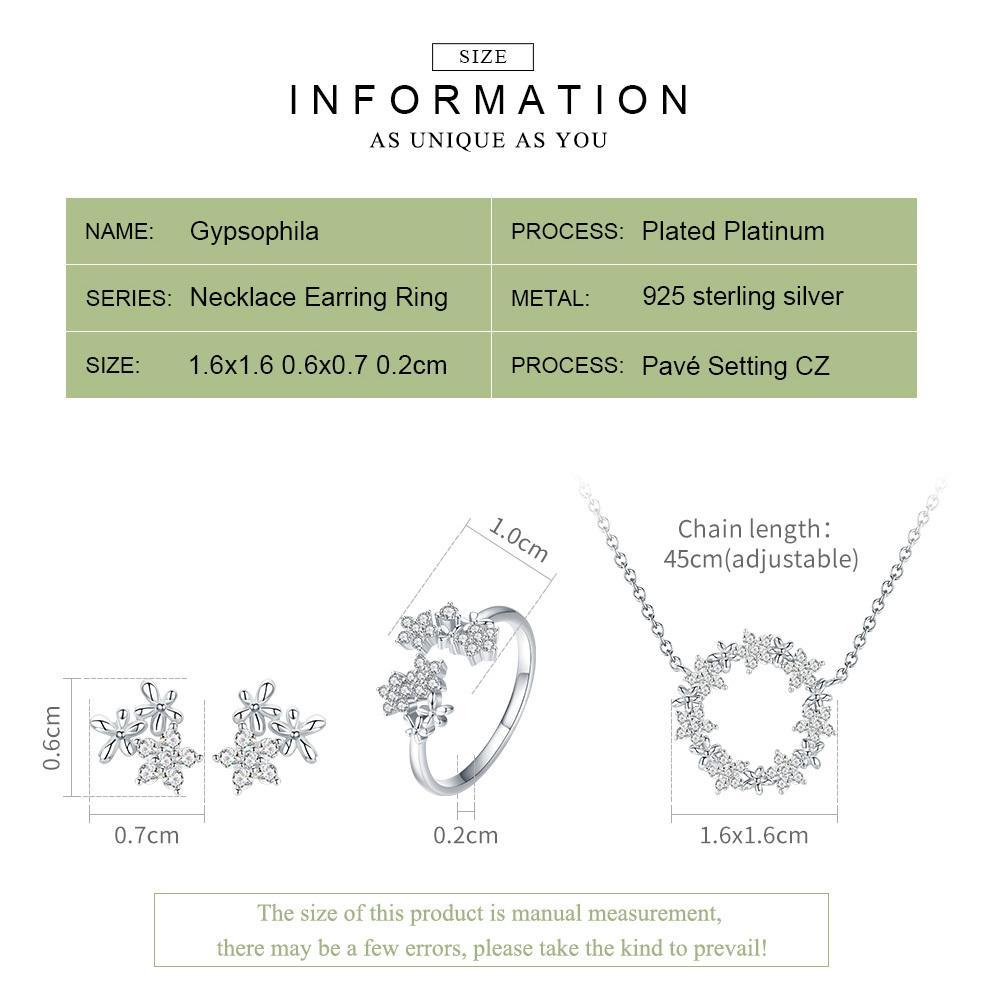 BAMOER 925 Sterling Silver Jewelry Sets Clear Cubic Zircon Shining Star Necklace Women Ring Jewelry Set Luxury Jewelry ZHS097 CX200623