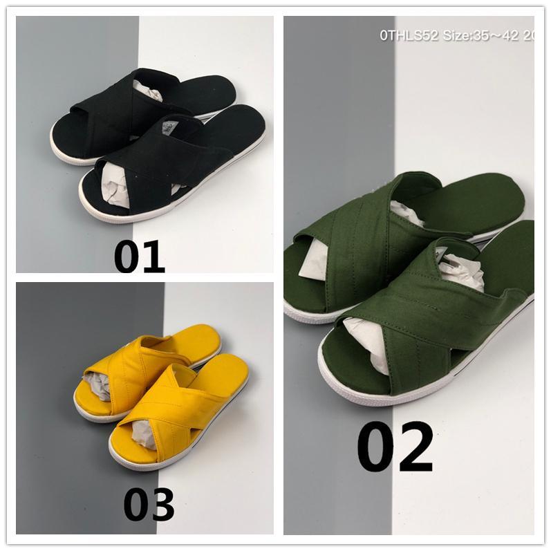 Homens Mulheres Sandals Uma Estrela slides chinelos pretos Designer amarelo Shoes clássico Verão mulheres esporte praia sandália flip-flop, ocasional tamanho 36-42