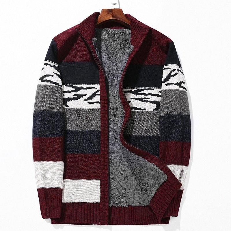 Plus Size L-6XL Winter-Pullover Lamm Cashmere Strickjacken Männer Baumwoll-Polyester-Mantel verdicken Warm Cardigan Male 2020 qjgE #