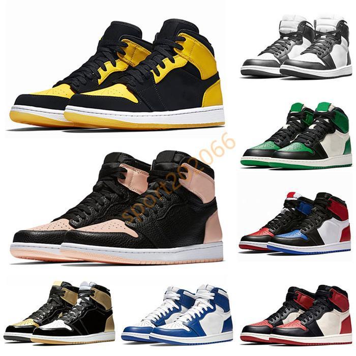 Top Nike air jordan 1 Crimson Tint Jumpman 1s New Love Mens Basketball Shoes Royal Blue Chicago Golden Purple Womens Trainers Designer Sneakers