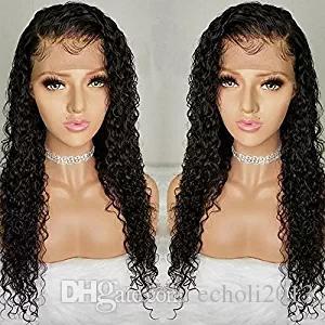미리 뽑은 곱슬 머리 아기 머리카락을 가진 곱슬 머리 투명 가발 브라질 버진 360 레이스 정면 가발 물 파도 인간의 머리카락 130 % 밀도 Diva1
