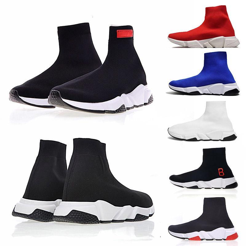 Hot Sale Herren Paris Speed Trainer Knit Trainer Damen-Socken-Schuh-Schwarz-Blau Luxus-Designer-Schuhe Sneakers Rennen Runner Herren Damen Sportschuhe