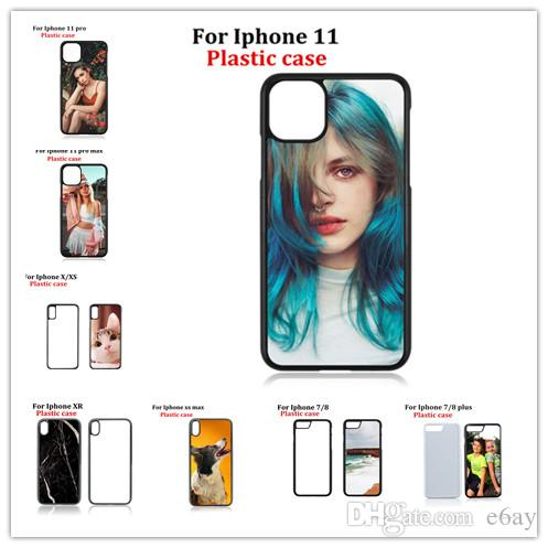 For Iphone 4/5/5c/6/6 Plus/7/8/8 Plus/X/XS/XS Max/XR/11/11 pro/11 pro max/touch 6 2D Sublimation Cases Heat Press PC Case DHL Free Shipping