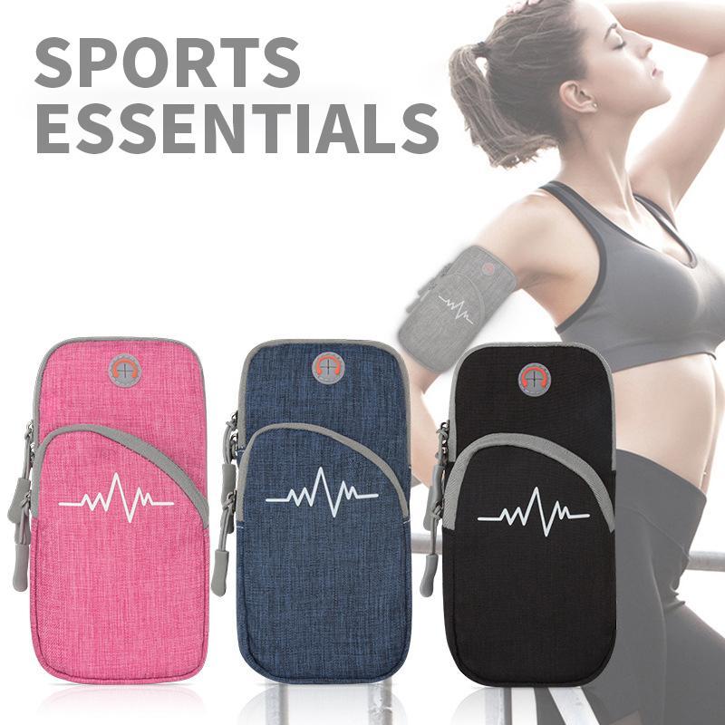 Sac de sport en cours Ceintures de course étanche Hommes Femmes Brassards pour téléphone mobile Holder Pouch Gym Fitness Zipper BRASSARD Sacs