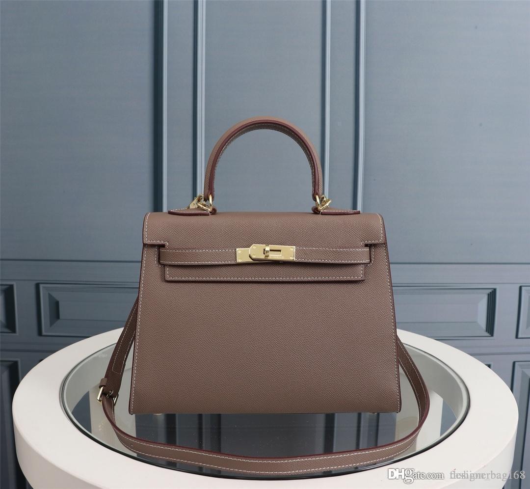 Klassische Designer Schultertasche Designer-Handtaschen-Taschen-Geldbeutel-Schulter-Bügel-Crossbody Beutel-Qualitäts-echte Leder-Frauen-Handtasche 25 28cm