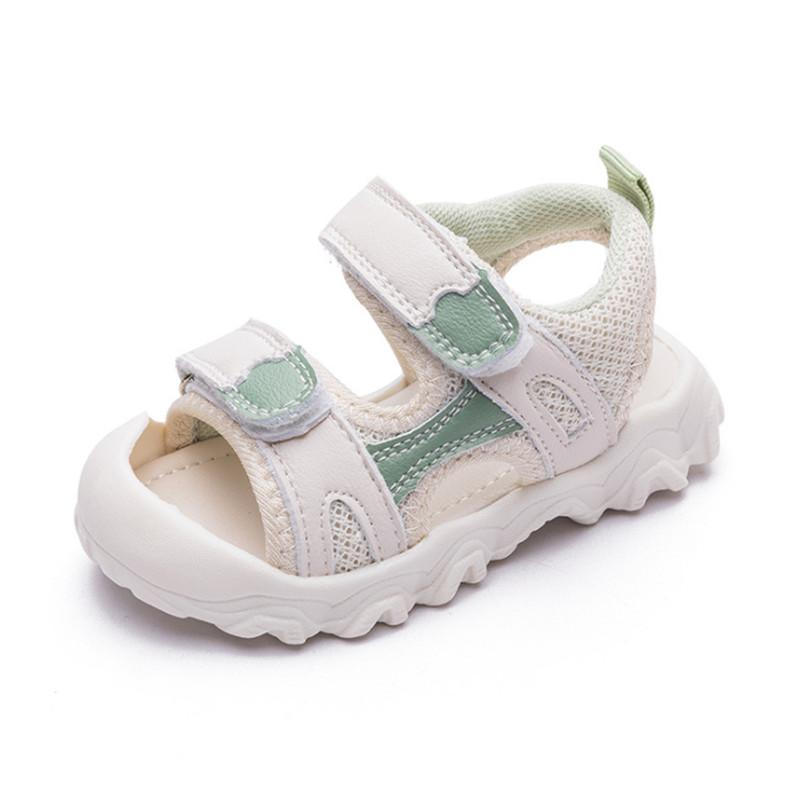 DIMI Summer Baby shoes for Boy Girl Fashion Baotou Breathable Mesh Kid Anti-collision Shoes Soft Bottom Non-slip Infant Sandals