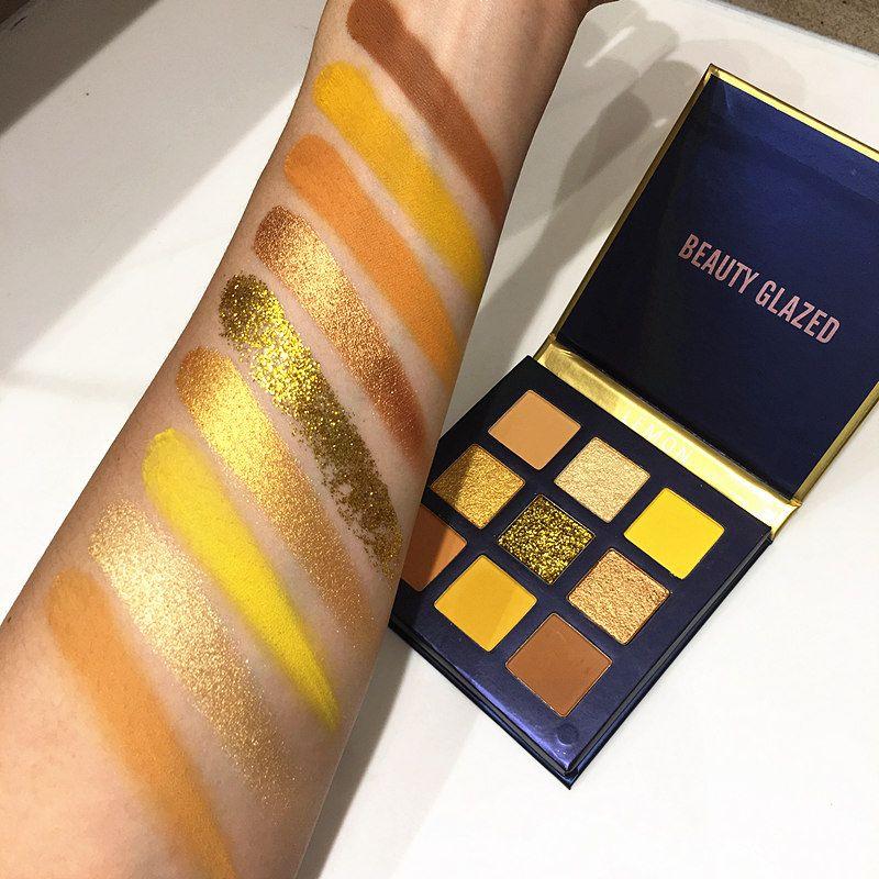 9 цвет желтой красоты глазурованные макияж теней для теней для теней для век для болота для приготовления макияжа Makeup Mike Shimmer Пигментированная палитра для глаз макияж палитра