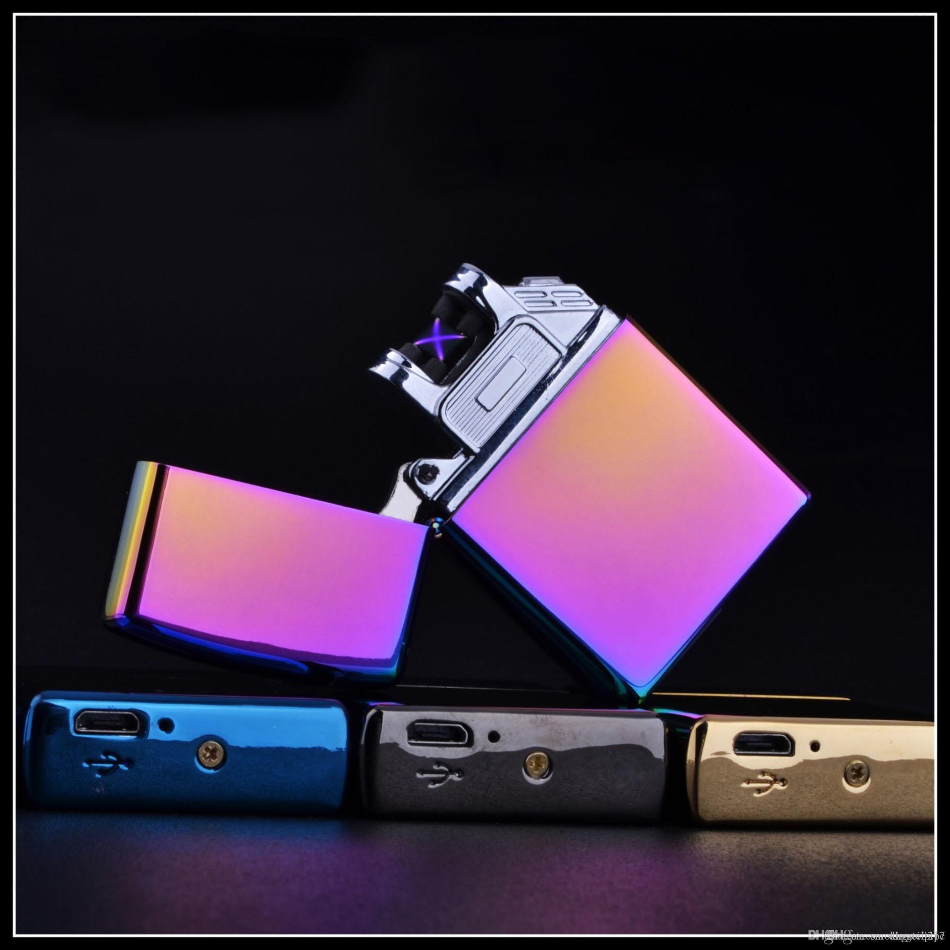USB DHL libera doppio arco elettrico Accendino ricaricabile al plasma antivento senza fiamma accendisigari regalo freddo per l'uomo il supporto OEM