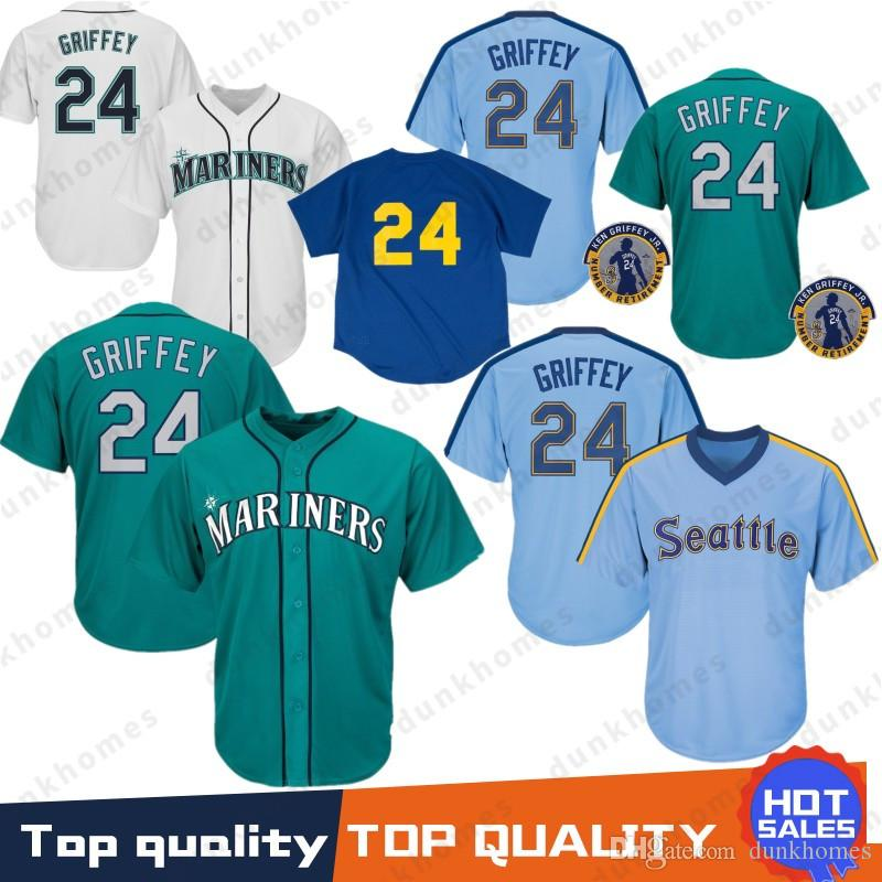 pretty nice 4c4b1 c10af 2019 Embroidery Logos Seattle Baseball Jersey Mariners 24 Jersey 22  Robinson Cano Top Quality 100% Stitched From Noblesports, $55.94 |  DHgate.Com