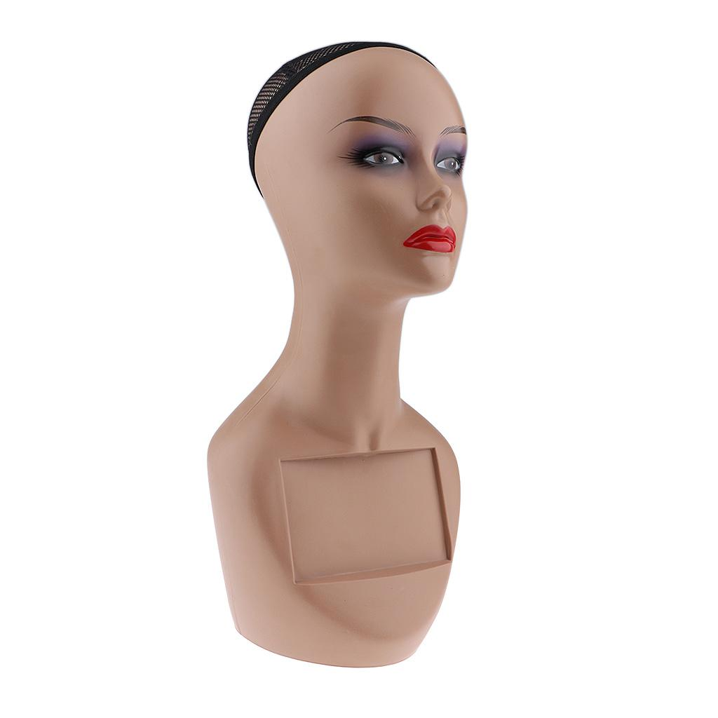 Female Mannequin Manikin Head Bust Model Wig Glasses Hat Scarf Display Stand
