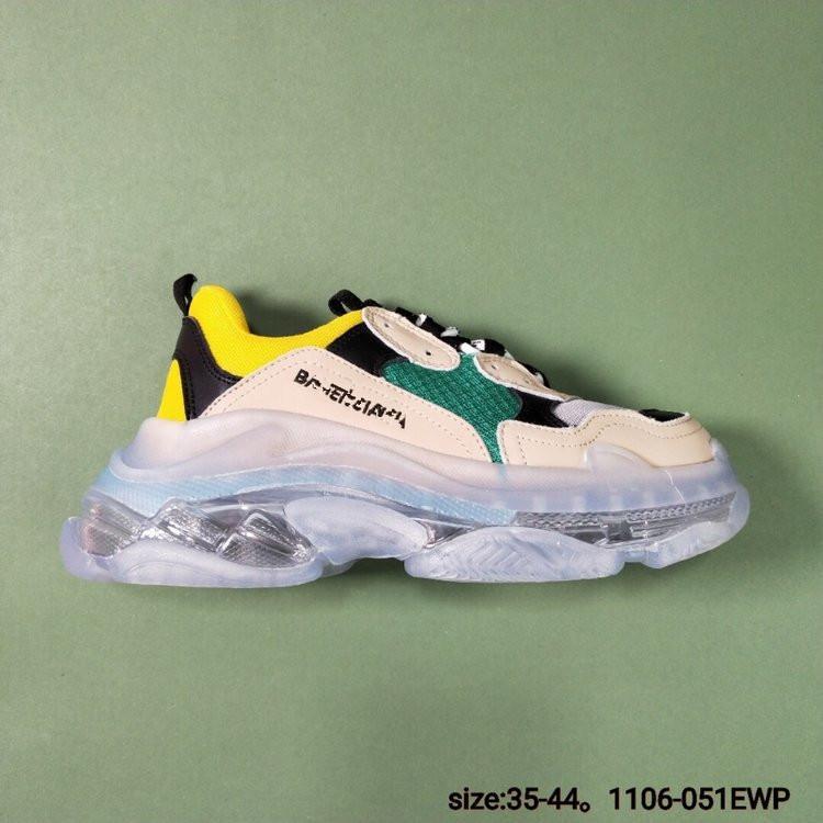 Balenciaga Triple-S Sneaker 2019 وجديد حار جودة عالية جديد الثلاثي S الاحذية الرجالية والأحذية حذاء رياضة المرأة تصميم اللون lmixed الأحذية أبي منخفضة سميكة المد كبير