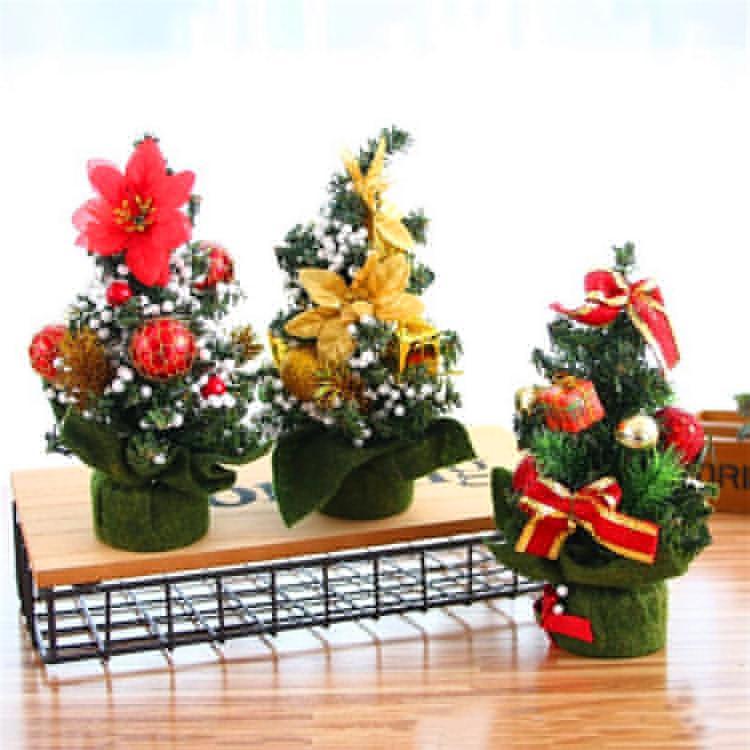 abbastanza 12 stile albero di Natale Mini tavolino decorazione di Natale interiore di Natale la decorazione della casa decorazione puntelli 20cm T3I5506