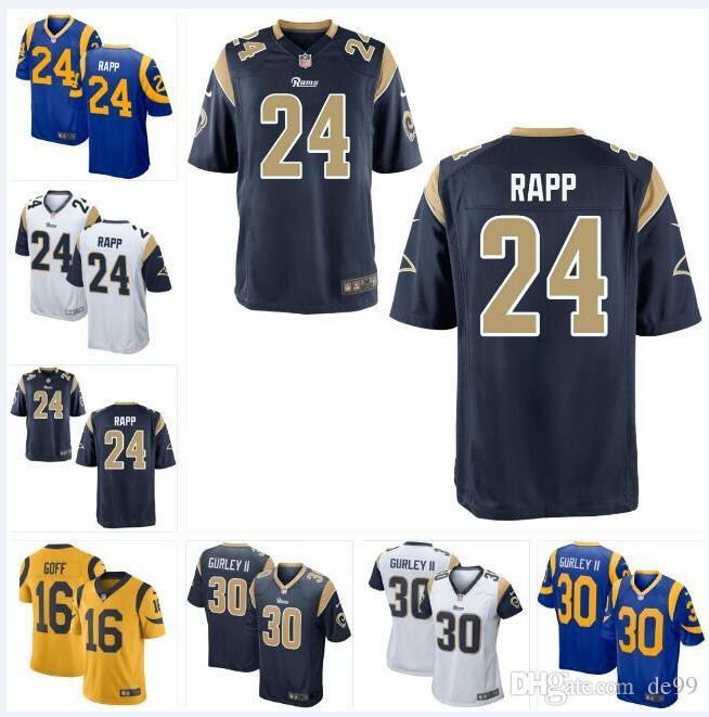 half off f6d6f 68c8a 2019 Taylor Rapp Rams Jersey Todd Gurley Eric Weddle Dakota Allen Cooper  Kupp Aqib Talib Clay Matthews Custom American Football Jerseys Stitched  From ...