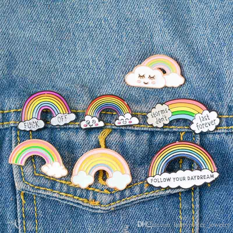 여성을위한 무지개 에나멜 브로치 남성 게이 레즈비언 프라이드 옷깃 핀 배지 패션 쥬얼리 브로치 브로버스 드 Créateurs