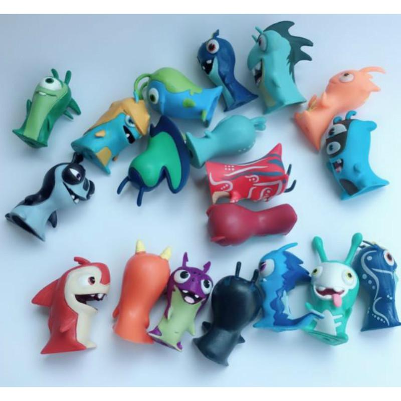 50pcs/lot Cartoon Anime Toys 5cm Slugterra PVC Model Toys Dolls Child Toy Collection Home Decoration CX200630