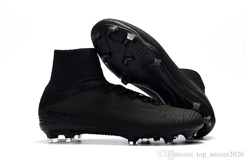 Hot Sale 2017-2019 Mercurial Superfly V TF/IC FG Indoor/outdoor Football Boots Mens/Women/Kids FG Soccer Shoes CR7 Soccer Cleats