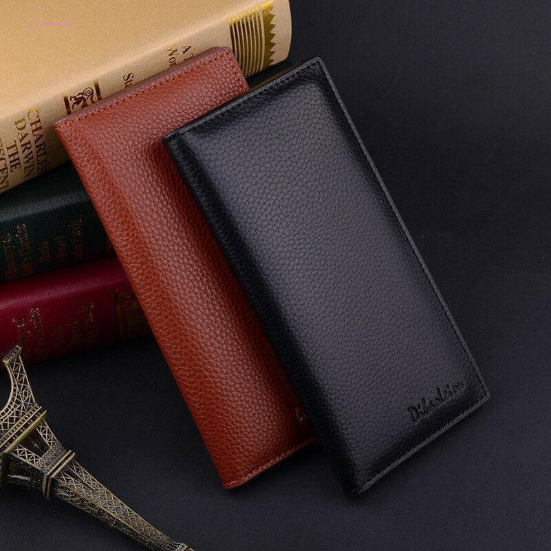 Mode Hommes en cuir haut de gamme Bifold multi Porte Chéquier bourse Portefeuille long embrayage Portefeuilles Drop Shipping