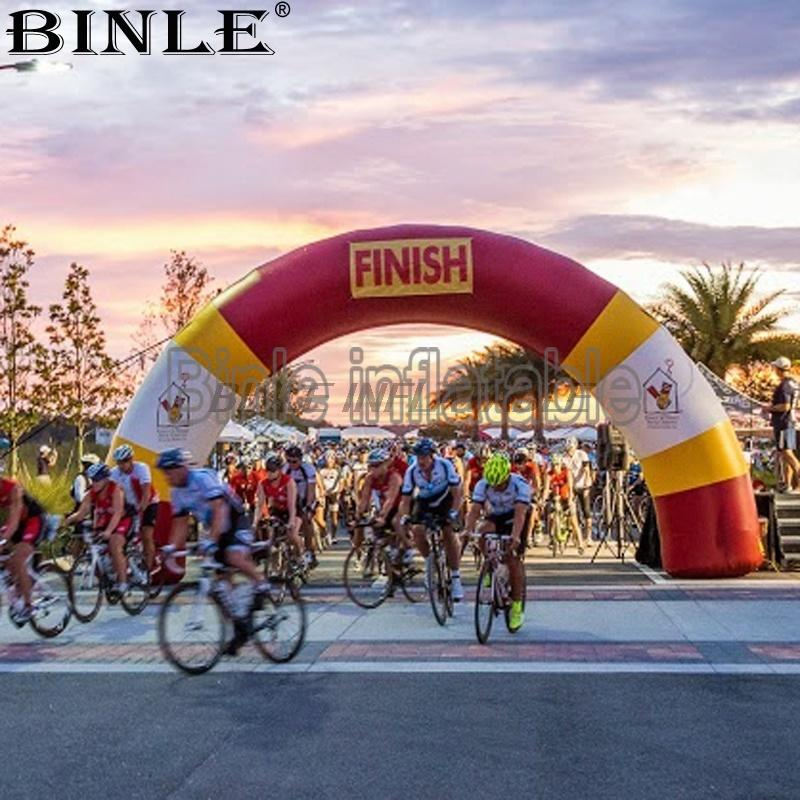 Custom Advertising Inflatable Archway Inflatable Race Arch with Removable Banners For Marathon