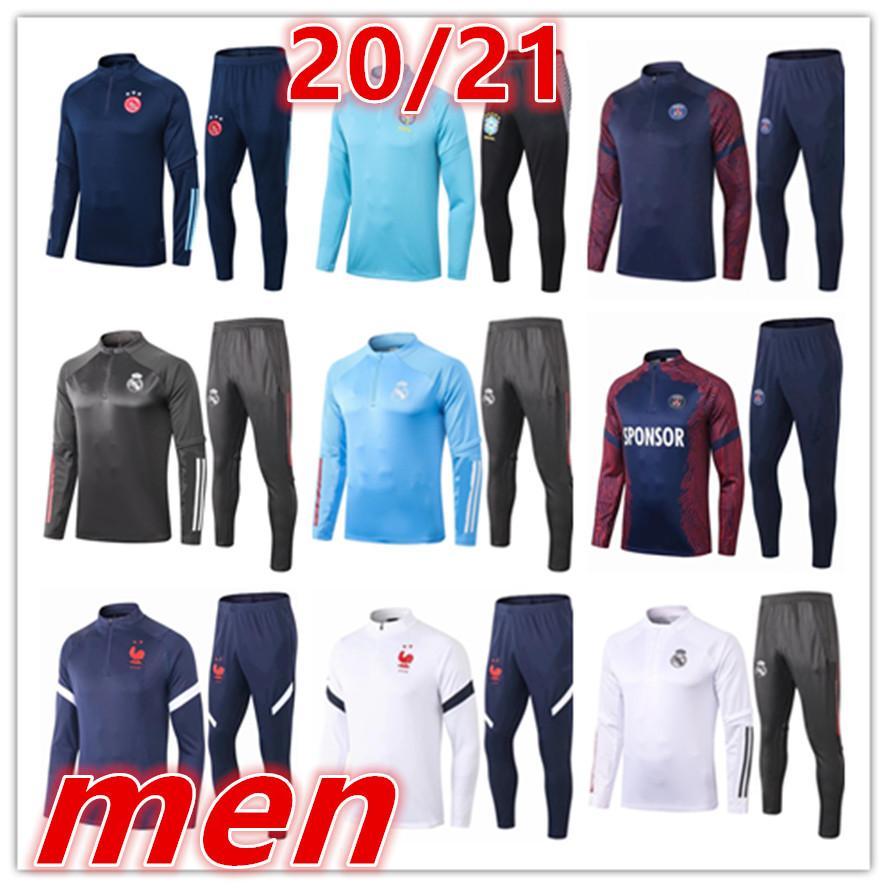 2020 2021 yeni erkek Ajax eğitim takım elbise eşofman Futbol Formalar kitleri 20 21 erkek futbol antrenman eşofman futbol eşofman koşu ceketi