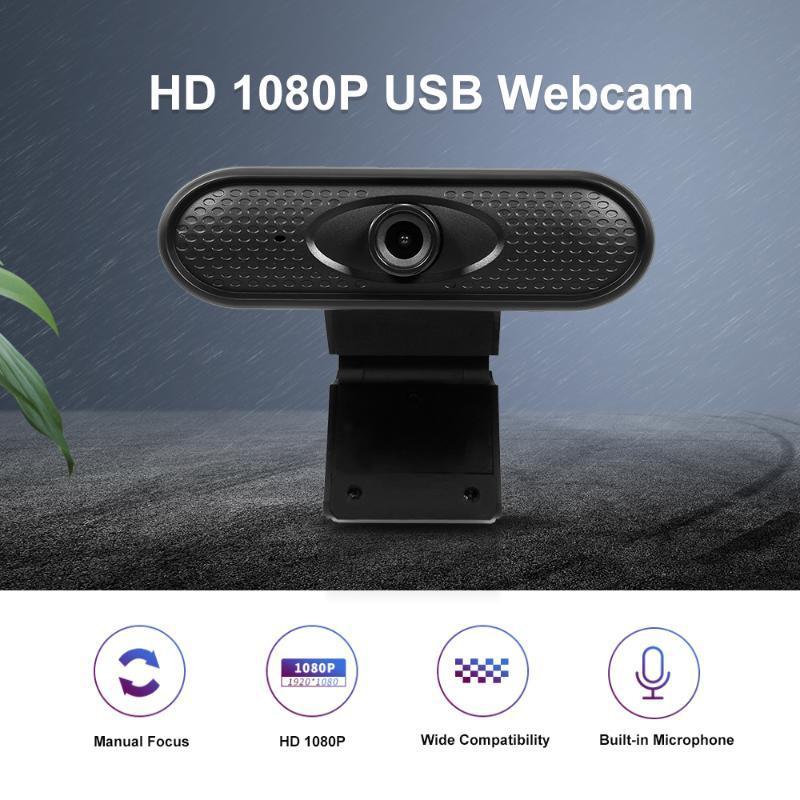 2020 nova câmara web HD 1080P Manual-Foco USB Câmara de computador webcam incorporada Microfone Sem Drive para PC Laptop Carro