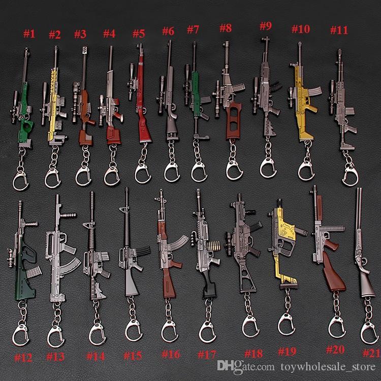 Survivl del arma del juego Juguetes llavero colgante 10-12cm niños Juego caliente 3D de armas Modelo Llavero Pistola de Juguete Accesorios L379