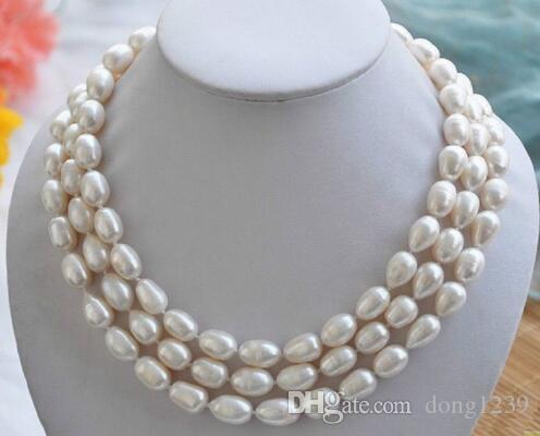 Classica collana di perle bianche da 48 pollici del Mare del Sud di 8-9 mm