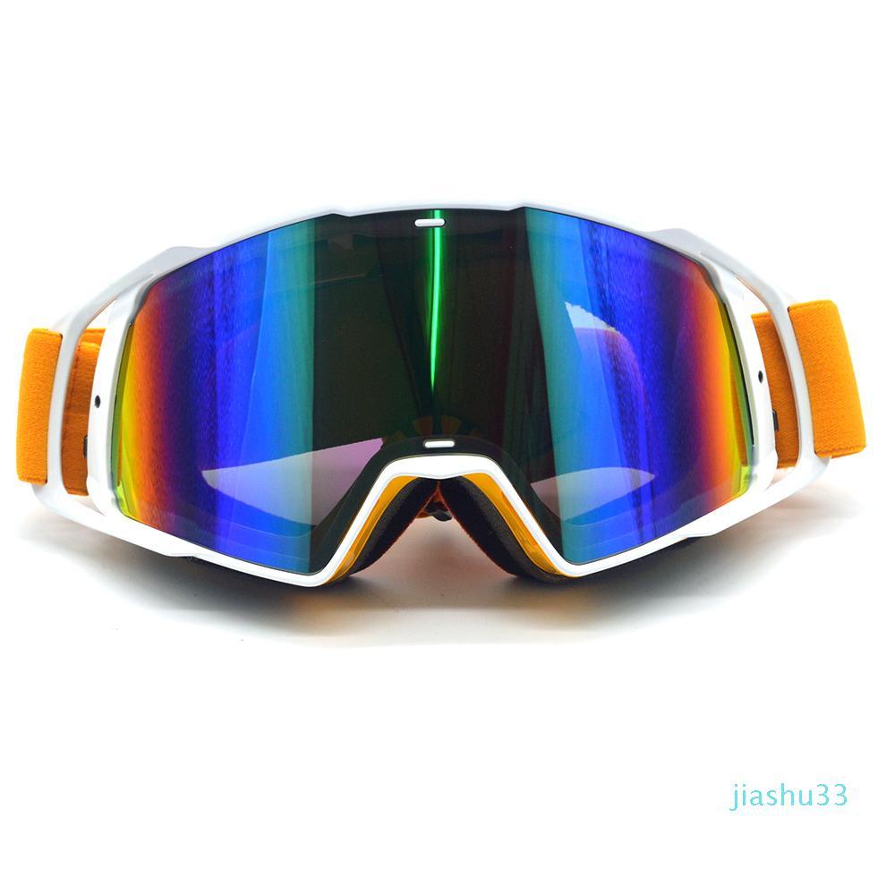 País flexível luxo- New Goggle Tinted UV Stripe Motos Goggles Motocross bicicleta Cruz Goggles Neve Lunette