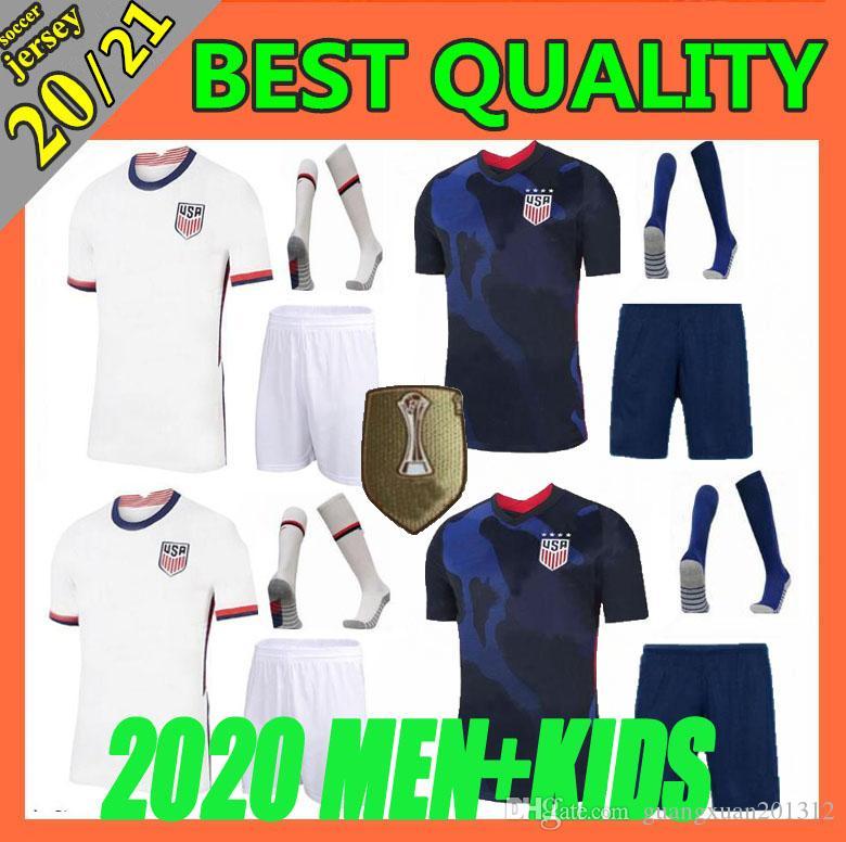 Adult Kit+socks 2020 USA PULISIC Soccer Jersey 20 21 DEMPSEY BRADLEY ALTIDORE MORGAN America Football jerseys United States Shirt