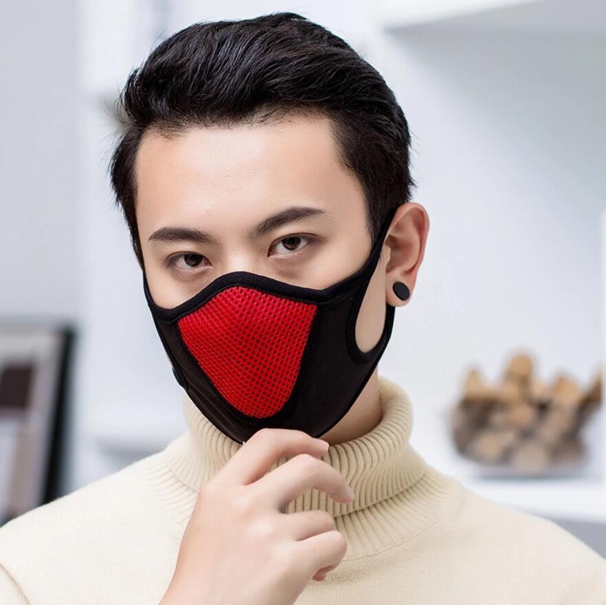 Sports Máscara Máscara anti-poeira de algodão Boca Rosto Unisex Homem Mulher Ciclismo Saúde Vestindo preto moda de alta qualidade Boca-de mufla