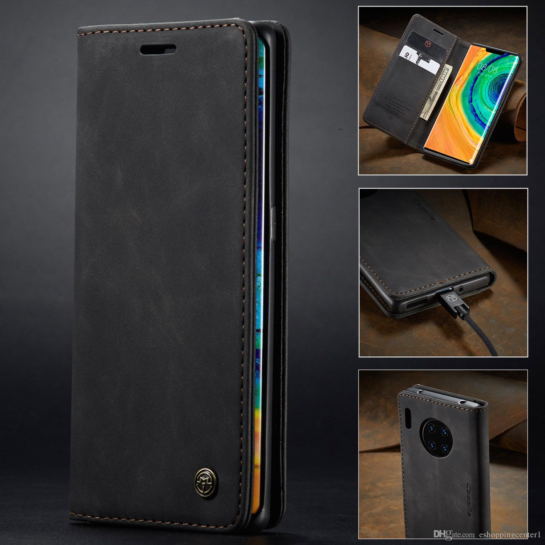Caseme Retro Vintage en cuir stand flip Wallet Case pour Huawei Maté 30 P30 Pro Pro P20 redmi Note 8 Pro MI9 OnePlus 7