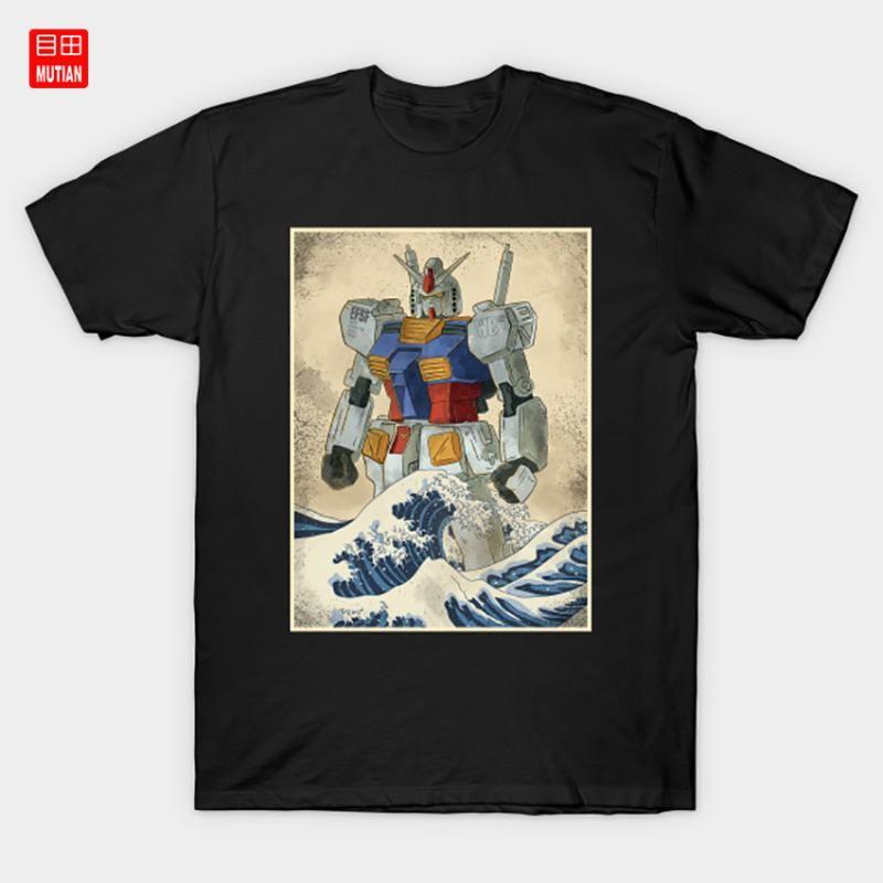 Gundam rx 78 weg von Kanagawa T-Shirt Mobile Suit Mecha Barbatos Opoyostudio Gundam EFSF Zaku Gunpla Roboter Rx78