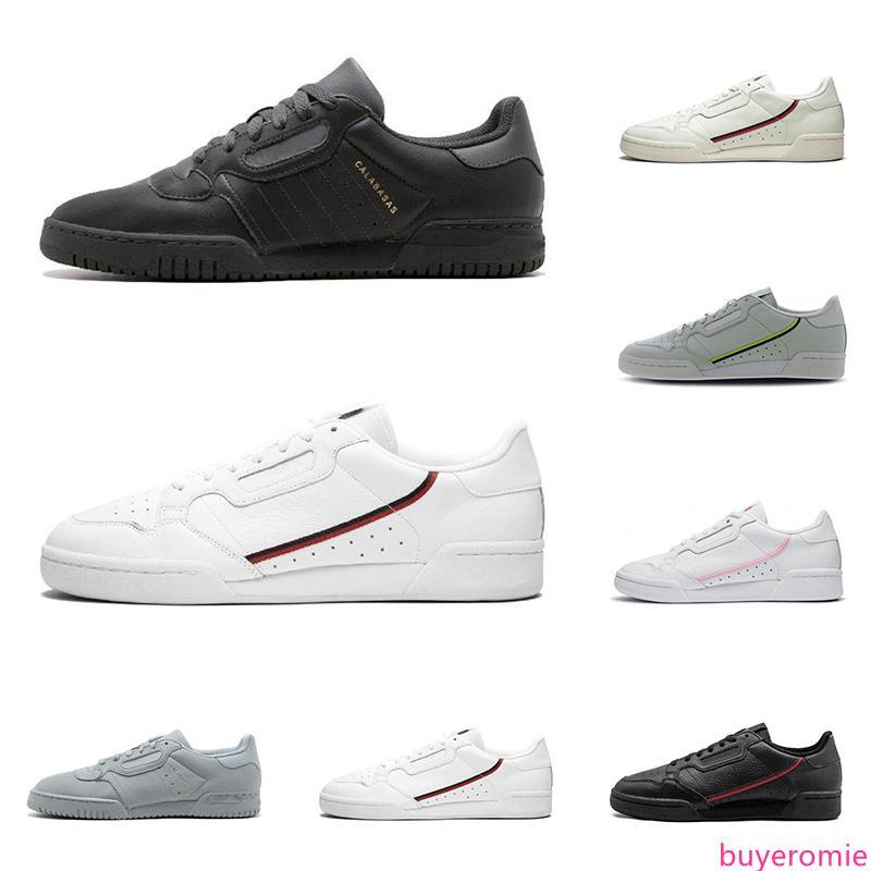 2020 calabasas powerphase Continental 80 erkek kadın sneakers üçlü siyah beyaz OG moda erkek eğitmen düz ayakkabı boyutu 36-45