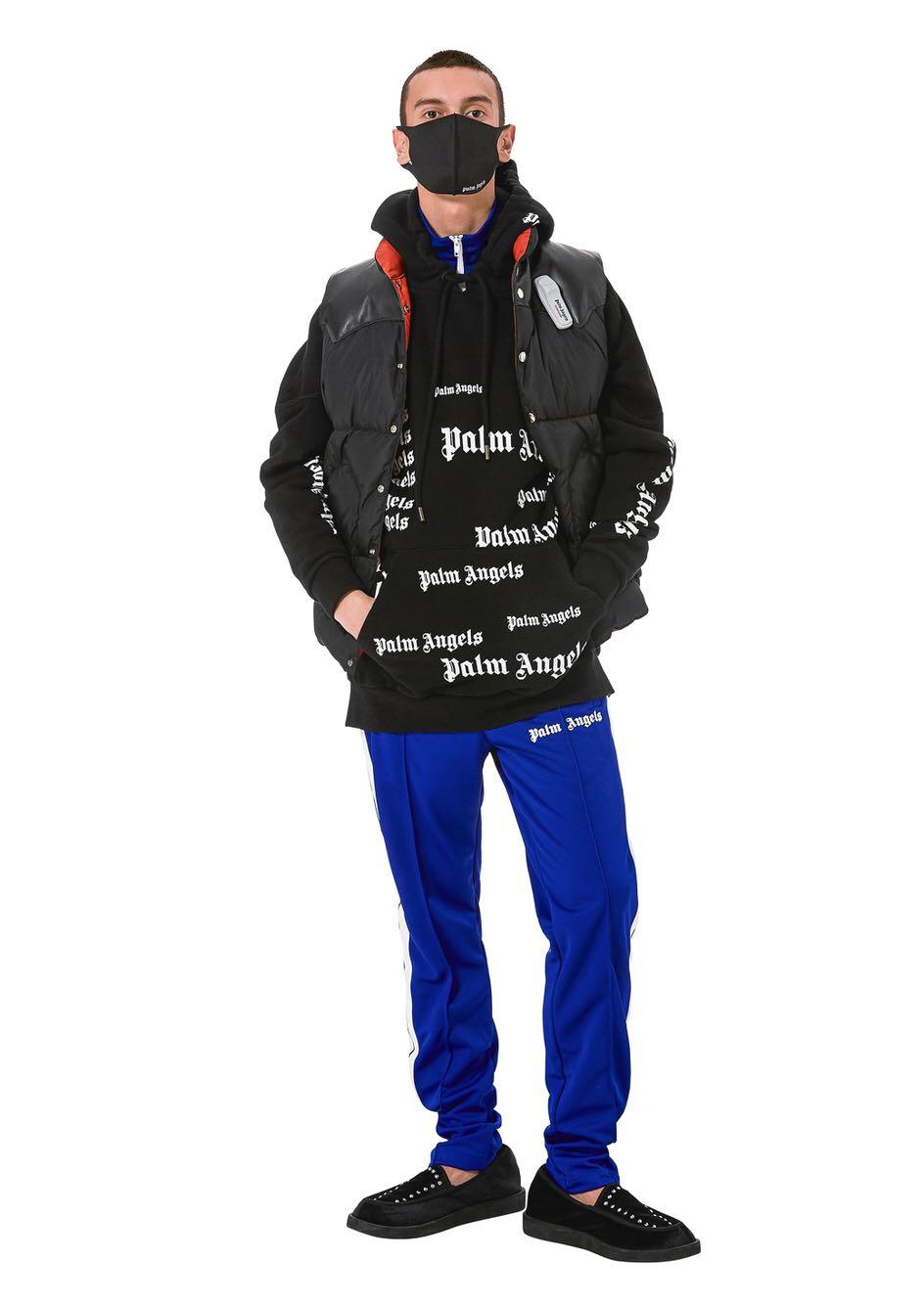 Großhandel Palm Angels Hoodie Herren Hip Hop Kleidung Schwarzer Druck Mit Kapuze Fleece Hoodie Sweatshirt Winter Mit Kapuze Mantel SHH1212 Von
