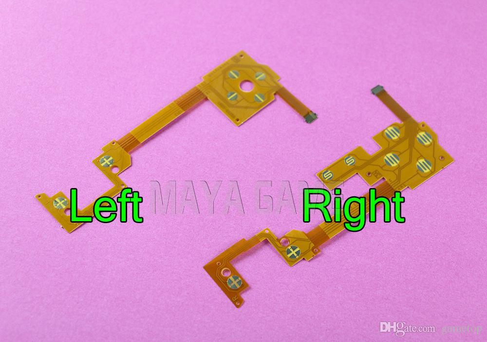 Левый правый проводной фильм Ключ кнопка ленты гибкий кабель для Wii U Pad контроллер 1set=левый+правый