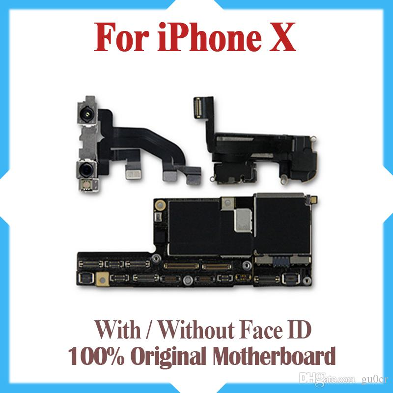Free Shipping Original Motherboard For iPhone X 64GB 256GB Factory Unlocked Mainboard With/Without Face ID IOS Update Support logic board