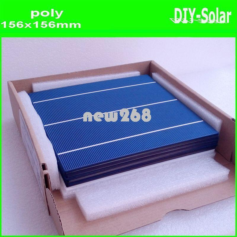 Freeshipping buy 4.2W 156mm poly solar cells 6x6+enough Tabbing Wire and Busbar Wire+1pc flux pen for making high-quality solar panels