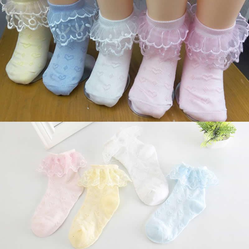 girls socks summer thin mesh lace short socks breathable princess baby cool kids children floor sock summer dress cloth