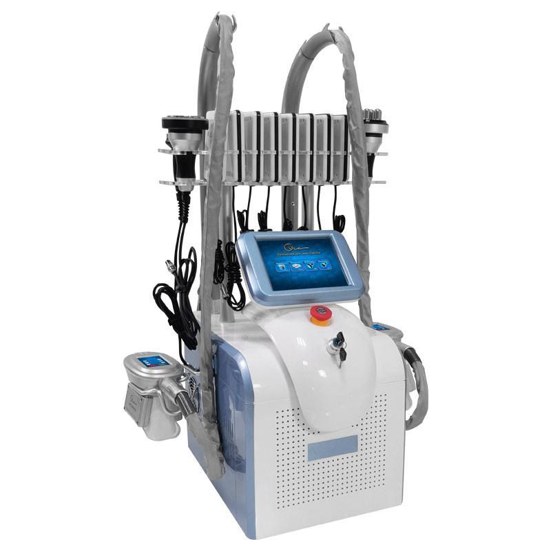 Equipamento da beleza 4 Handle Surround Congelamento Fat RF Laser cavitação 4 em 1 Cryolipolysis Máquina de Uso Doméstico
