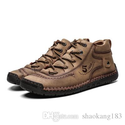 2019 осени нового большого размера повседневная обувь мужского бизнеса Внешнеторговых мужской обувь ручной работа приграничного горох обувь