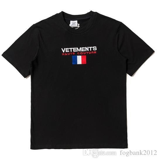 New fashion Vetements T Shirt Cotton men women T-Shirt Tee Hip Hop summer tops tees