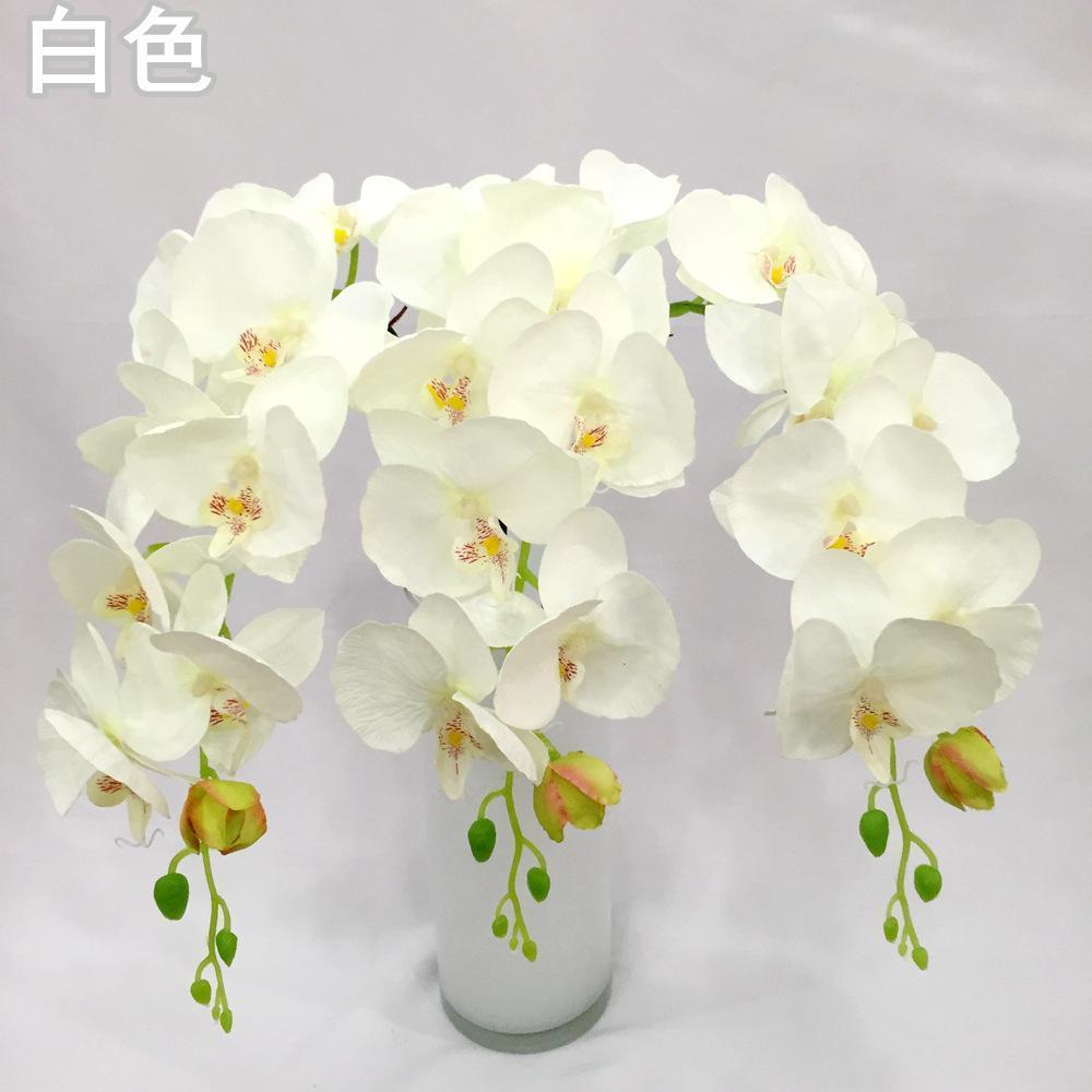 Дешевые Хорошее Качество 8 Цветочная Голова Боссированная Бабочка Орхидея ИНН Реквизит Оптовая Продажа Цветок Искусственные Цветы Для Свадебного Украшения
