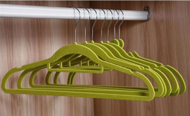41cm Closet Velvet Hangers Functional Non-slip Thin Magic Flocking Space Save Storage Racks Home Office Shop Window Display