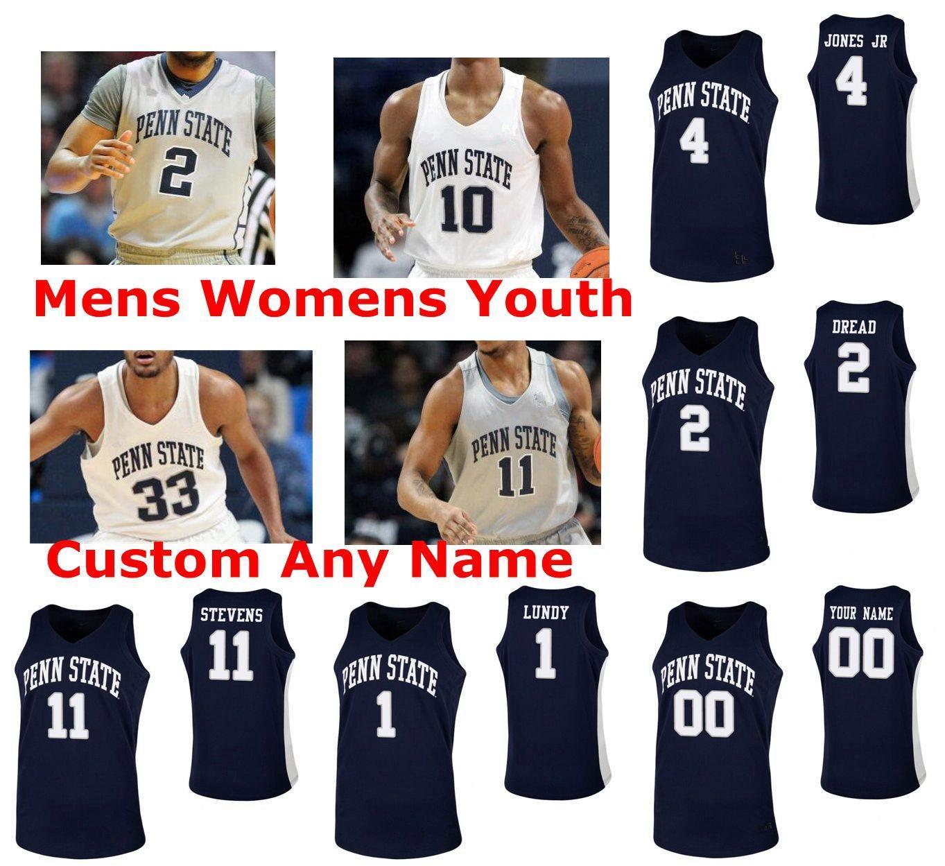 Penn State Nittany Lions Formalar Mens 5 Jamari Wheeler Jersey Kyle McCloskey Lamar Stevens Izaiah Brockington NCAA Basketbol Formalar Özel