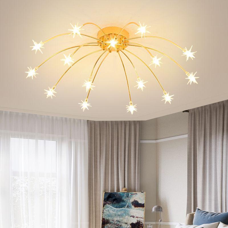 LED Ceiling Light Down Panel Light Children Star Bedroom Kitchen Lamp Cool White