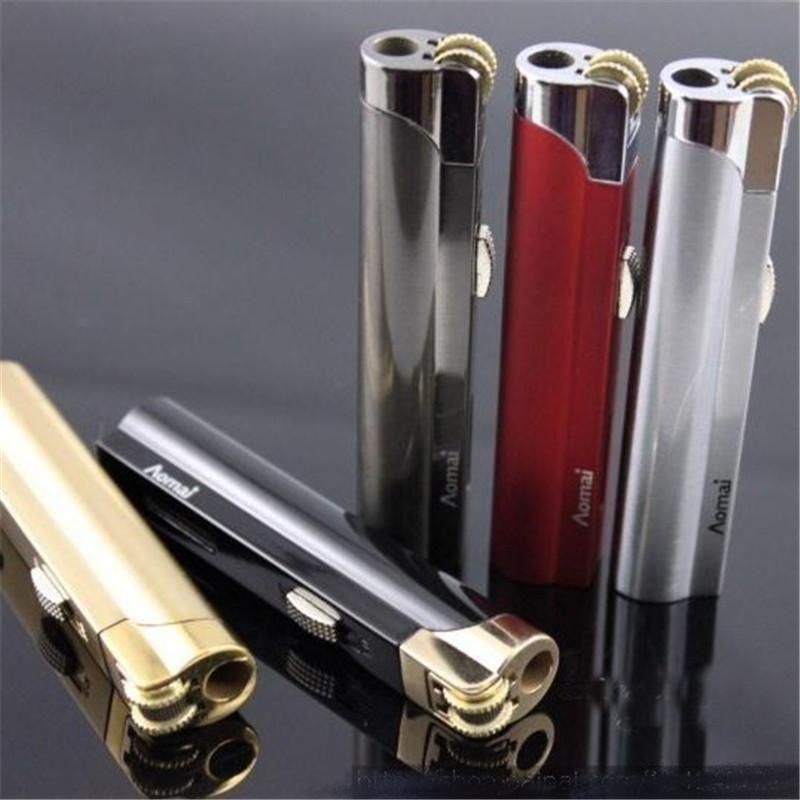 Aomai Flame Lighter Jet Torch mola butano accendini a gas per accendisigari Facile messo in Cigarette Box