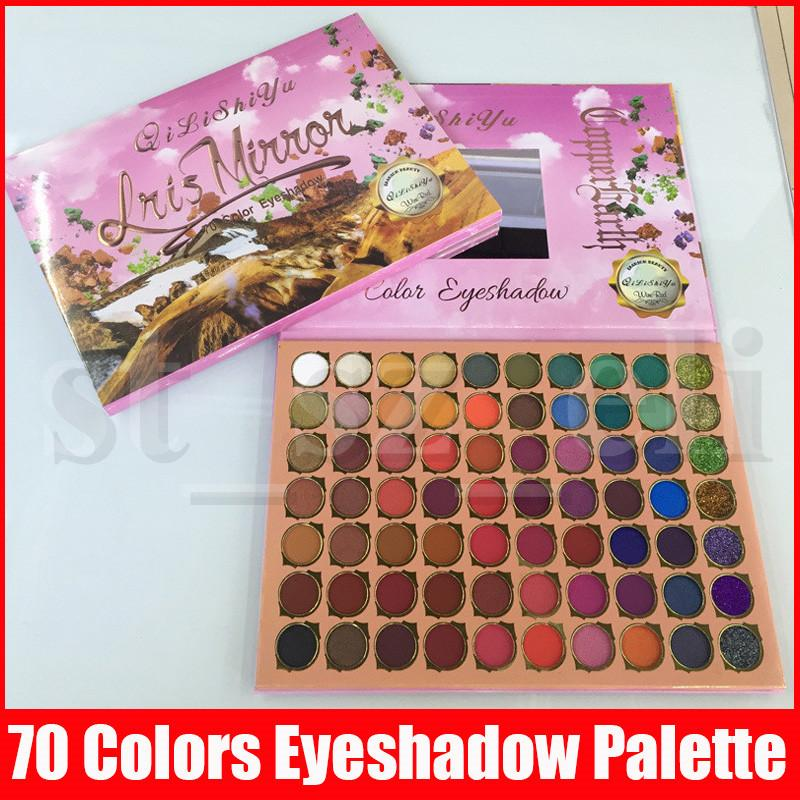 70 Color Matte Glitter Mix Eyeshadow Palette High Pigment Eyeshadow Palette Waterproof Naked Eye Shadow Palette Professional Cosmetic